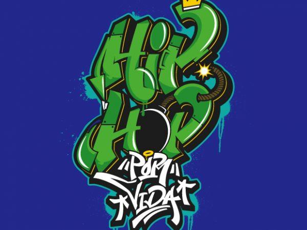 Hip Hop Art graphic t shirt