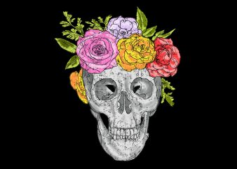 Skull and Roses buy t shirt design