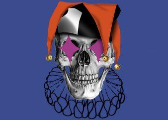 Skull Jester buy t shirt design