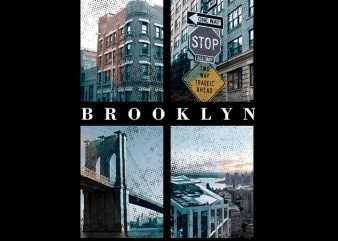 Brooklyn 4 Photos t shirt template