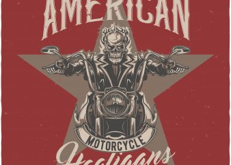 Motorcycle hooligans t shirt designs for sale