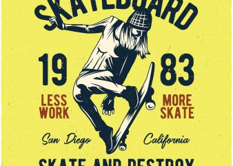 Skateboard buy t shirt design
