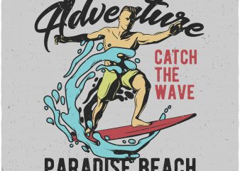 Summer adventure buy t shirt design