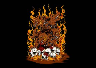 wrath of carberus t shirt design for sale