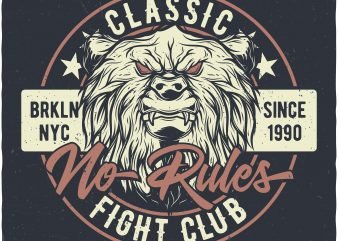 Bears fight club buy t shirt design