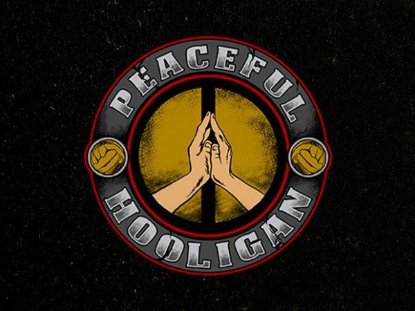 peaceful hooligan t shirt illustration