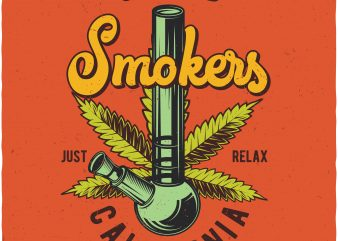 United smokers. Vector t-shirt design