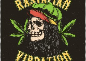 Rastaman vibration. Vector t-shirt design