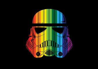 Rainbow Troopers t shirt vector