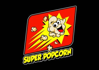 super popcorn buy t shirt design