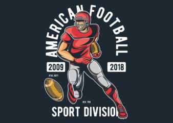 American Football t shirt template