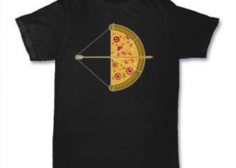 Arrow Pizza tshirt design buy t shirt design