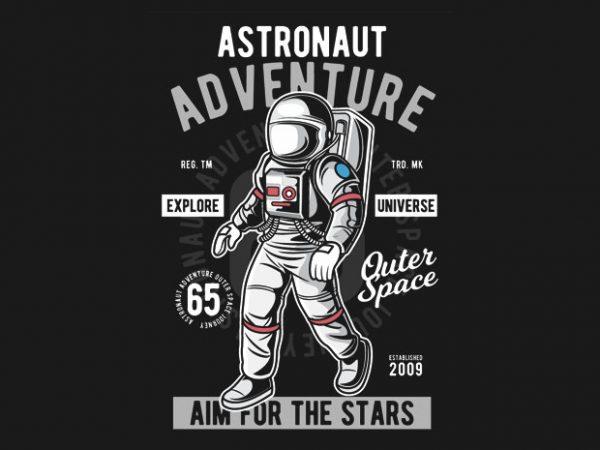 Astronaut Adventure t shirt vector