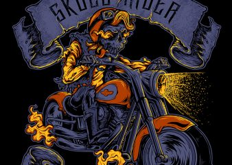 Skull Rider buy t shirt design
