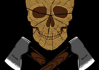 Skull Wood buy t shirt design