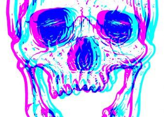 CMSkull t shirt vector file