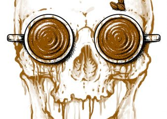 Skull Coffee buy t shirt design