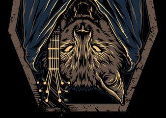 Bat Music t shirt template