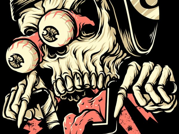 Freaky Biker t shirt graphic design