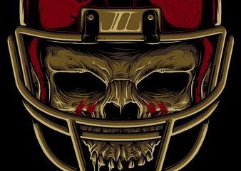 American Football Skull t shirt vector