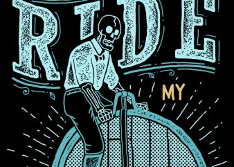 I Want to Ride My Bike t shirt design for sale