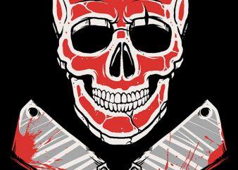 Skull Meat t shirt template vector