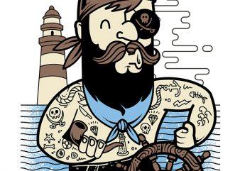 Pirate t shirt vector