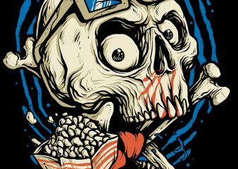 Skull Movie t shirt template vector