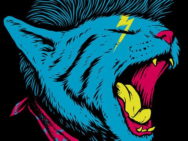 Cat Punk t shirt vector file