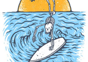 Death Surfer t shirt vector illustration