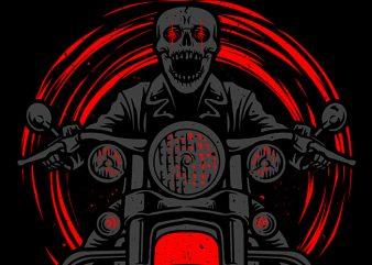 Night Rider T shirt vector artwork