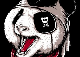 Panda Pirate t shirt illustration