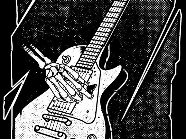 Guitarist t shirt design template