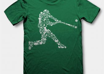Baseball Player Vector t-shirt design buy t shirt design