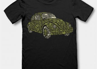 Beetle tshirt design buy t shirt design