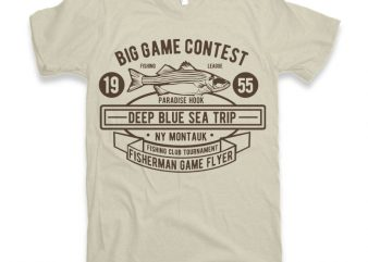 Big Game Contest Fishing t-shirt design