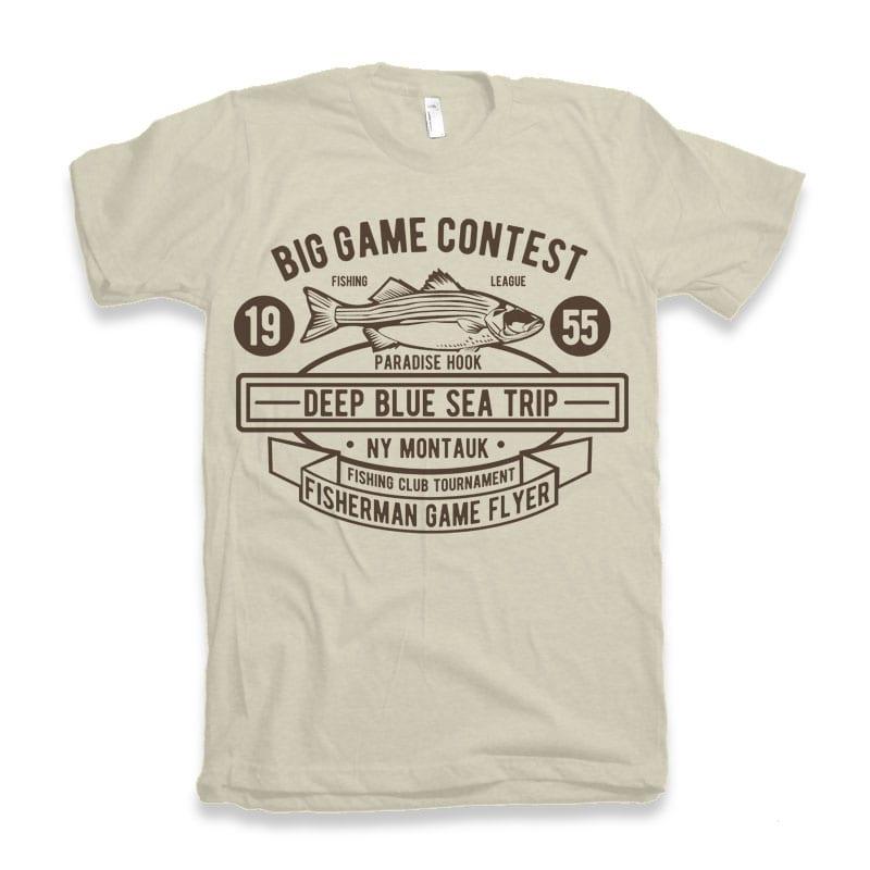 Big Game Contest Fishing t-shirt design buy t shirt design