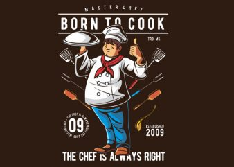 Born To Cook t shirt template