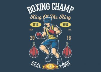 Boxing Champ t shirt template