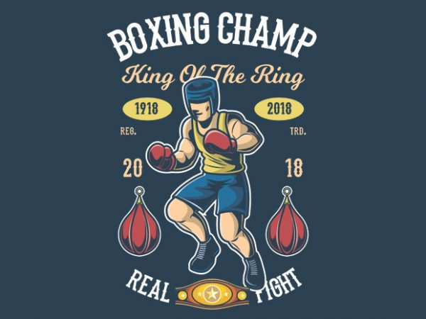 Boxing Champ t shirt template