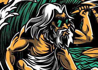 Aloha Zeus t shirt vector