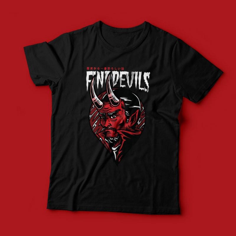 Find Devils buy t shirt design