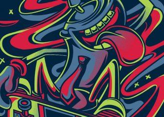Spray Master t shirt template vector