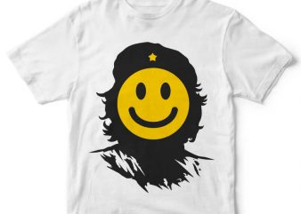 Che Smile tshirt design t shirt vector