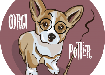 Corgi potter buy t shirt design