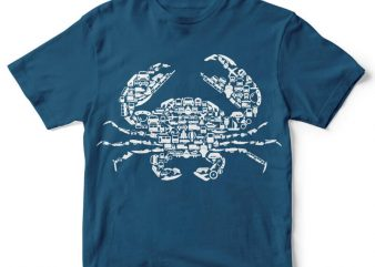 Crab Graphic tee design buy t shirt design