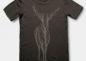 Deer 2 t-shirt design buy t shirt design