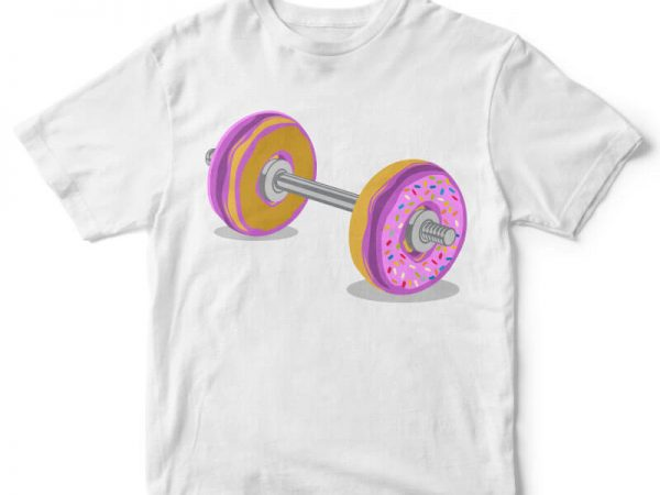 Donut Barbell t-shirt design