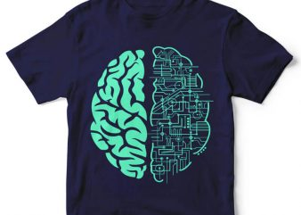 Electric Brain t-shirt design