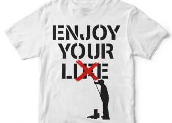 Enjoy Your Lie tee design buy t shirt design